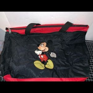 Disney Mickey Mouse Tote Bag Black Red Mickey